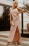 Wieczorowa sukienka maxi różowa 2226-12