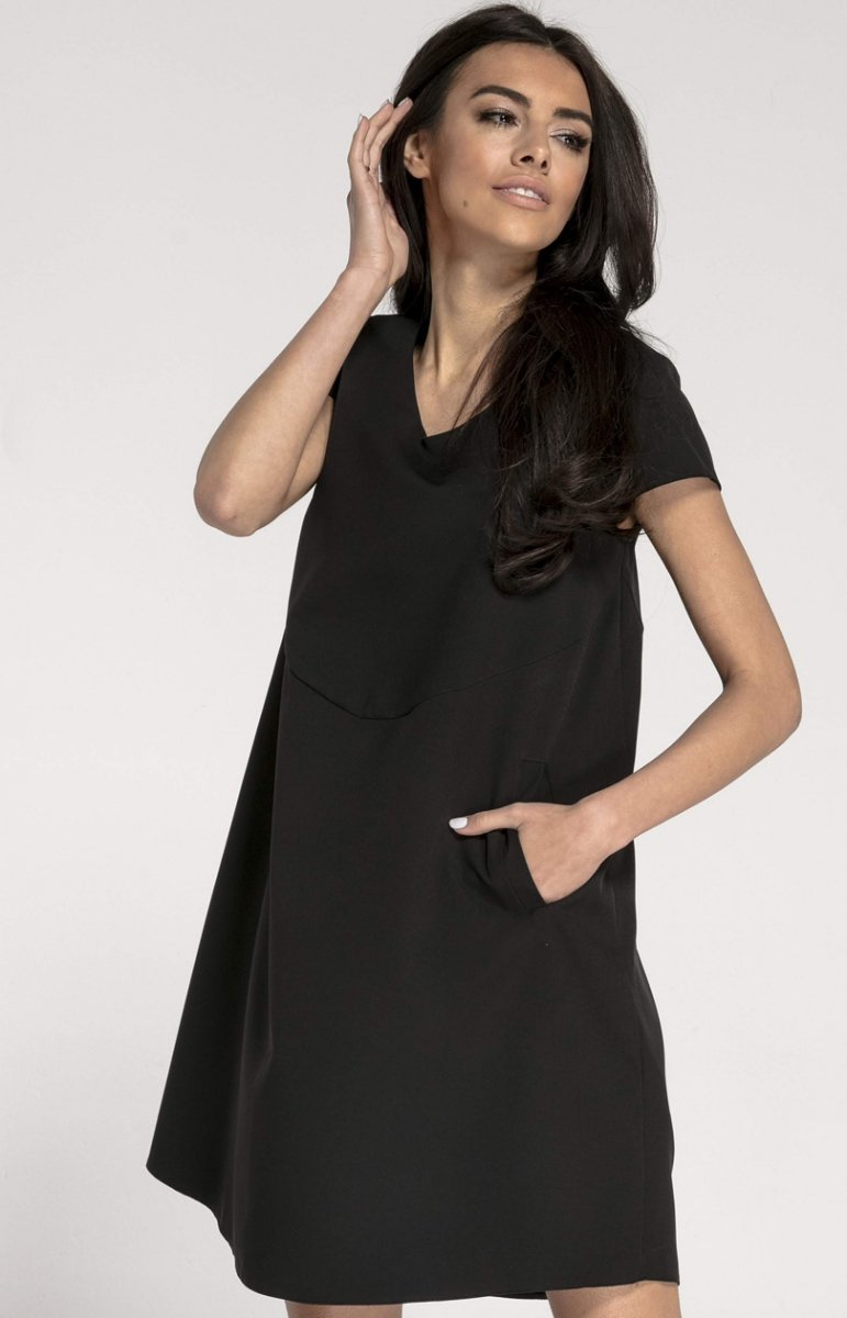 785207fb02 Oversizowa casualowa sukienka czarna NA1003 - MODA DAMSKA - Sklep ...
