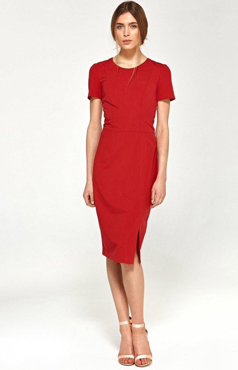 992387a86e Nife s97 sukienka czerwona - Sukienki ołówkowe - Odzież damska Nife ...