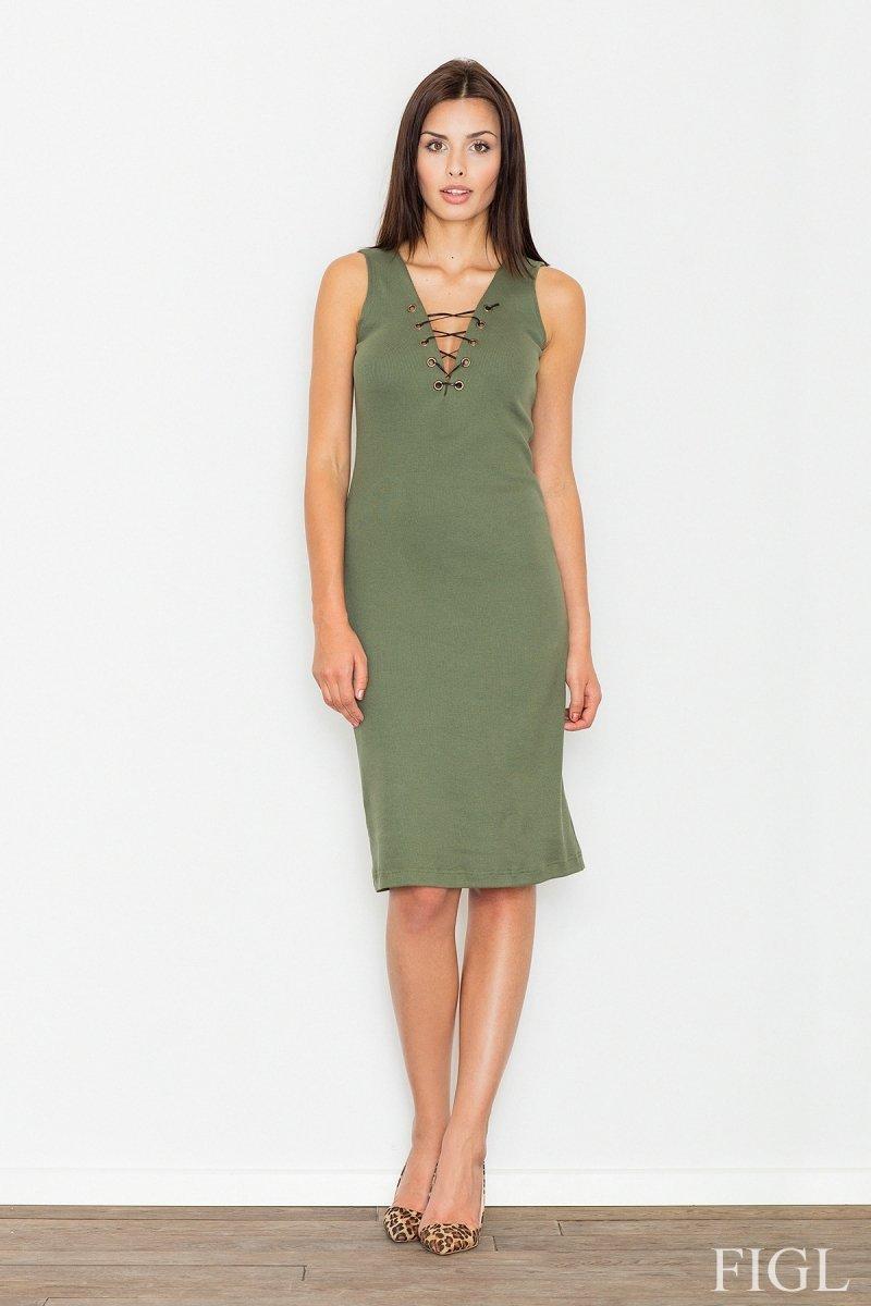 5e298f2962 Figl M487 sukienka zielona - Modne sukienki damskie - Sukienka na ...