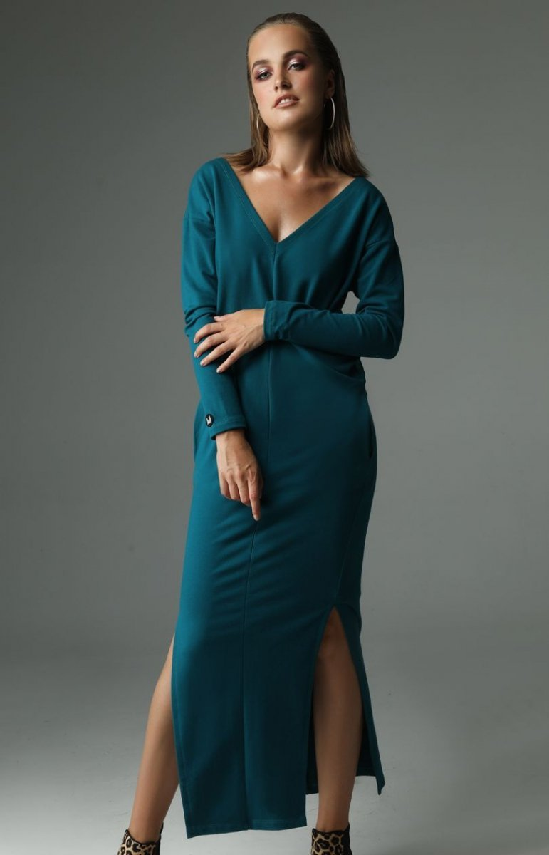 e7d55181ff Madnezz The ruler sukienka ciemny morski - Sukienki długie ...