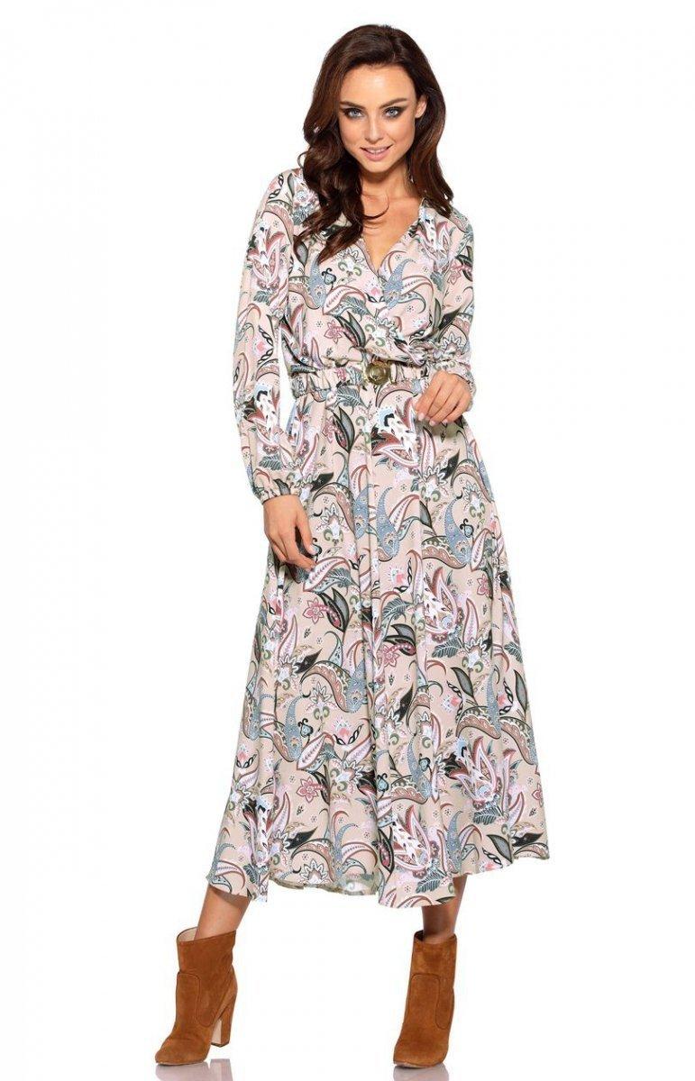 81949636c4 Sukienka midi wzorzysta L286 - Sklep Intimiti.pl