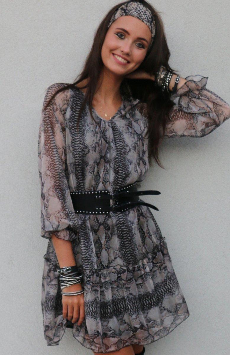 39fdb261 Roco 217 sukienka wężowy wzór - Sukienki na co dzień - Sukienki ...