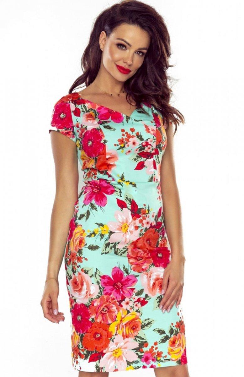 e2aae68ffc Bergamo Alice sukienka czerwone kwiaty - Sukienki ołówkowe ...