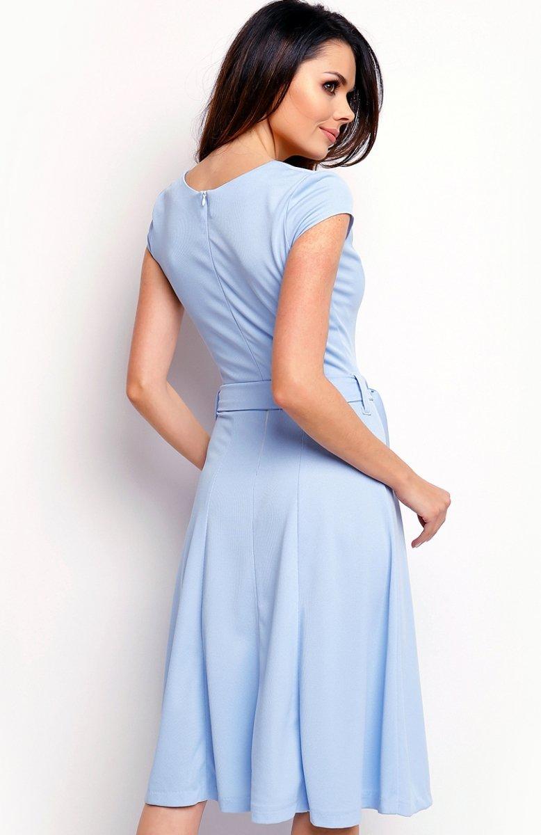 57735ed25c Nommo NA401 sukienka błękitna - Sukienki do biura i do pracy ...