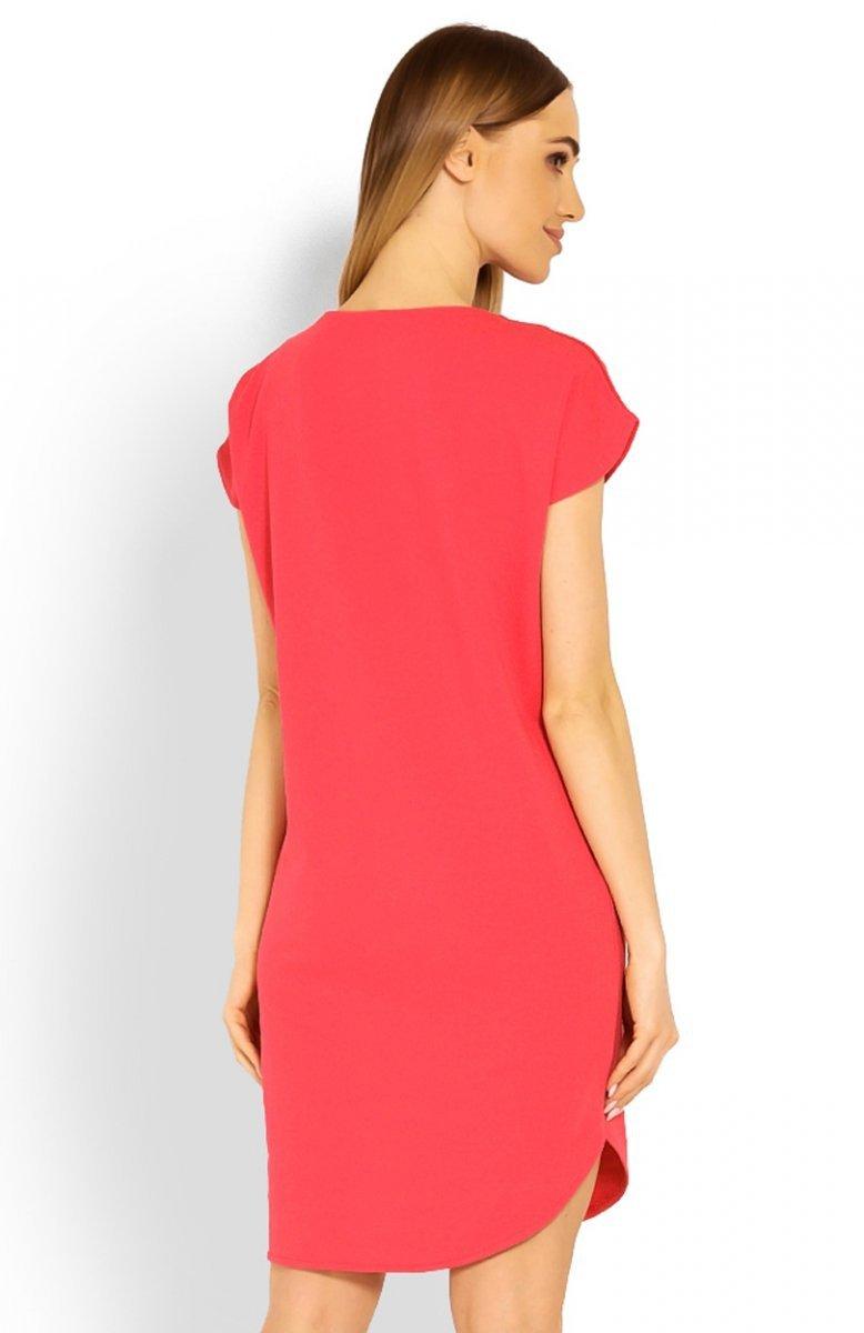 e398fe6400 PeekaBoo 1629 sukienka koralowa - Sukienki dzienne - Modne sukienki ...