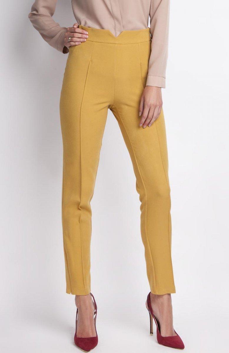 fec495b33a8f65 Lanti SD112 spodnie musztardowe - Eleganckie spodnie damskie - Modne ...