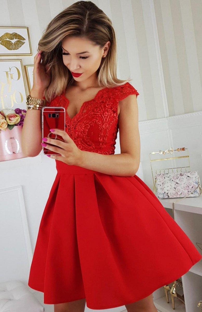 da39f5b9c6 Bicotone 2139-02N sukienka rozkloszowana - Sukienki ...