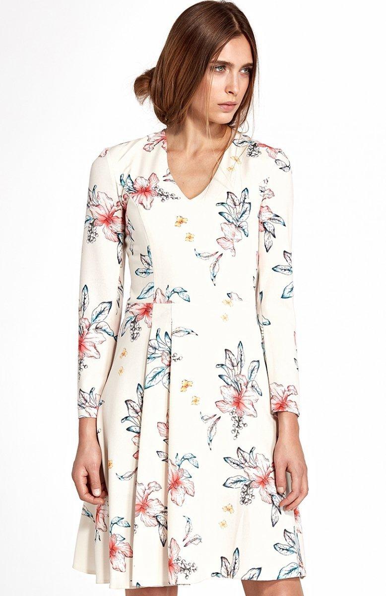 a7f4736339 Nife S109K E sukienka w kwiaty - Sukienki do biura - Sukienki - MODA ...