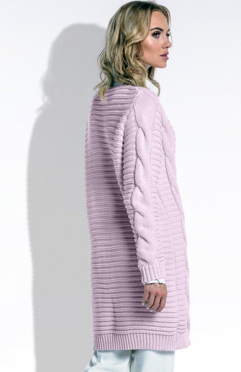 Inne rodzaje FIMFI I201 sweter pudrowy róż - Modne swetry damskie 2017 - Swetry CO27