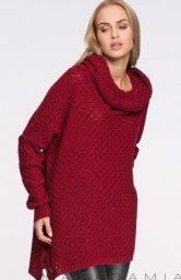 Makadamia S30 sweter bordowy