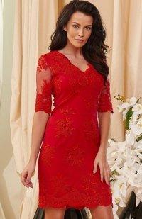 *Roco 0153 sukienka czerwona