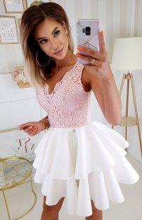 Rozkloszowana sukienka z pianką 2122-32