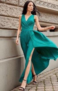 Wieczorowa sukienka maxi zielona 0224