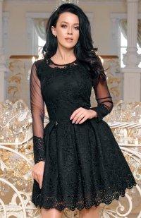Bicotone 2162-06 sukienka rozkloszowana czarna