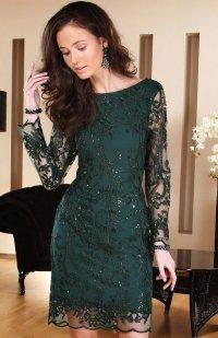 Roco 0122 sukienka zielona