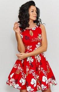 Roco 0203 sukienka czerwona