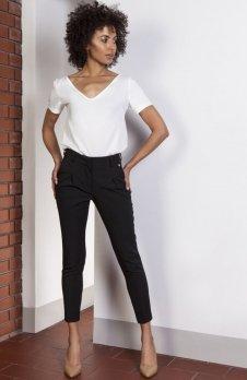 Spodnie cygaretki czarne SD115