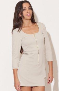 Katrus K104 sukienka beżowa