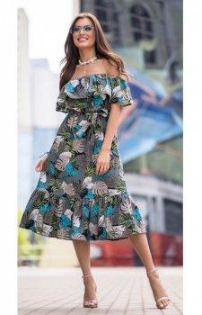 Kobieca sukienka hiszpanka midi