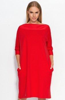 Makadamia M317 sukienka czerwona
