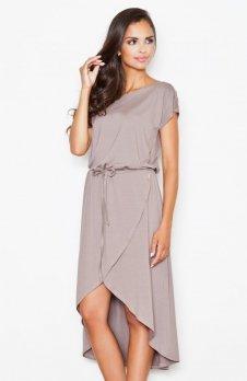 Figl M394 sukienka brązowa