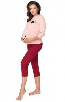 Ciążowa piżama damska z buźką 0151