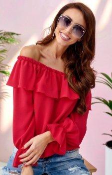 Modna bluzka hiszpanka czerwona 0116