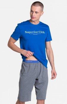 Henderson Zed 38366-55X piżama niebiesko-szara