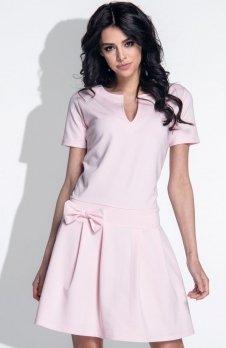 *Fobya F374 sukienka pudrowy róż