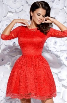Bicotone 2128-02 sukienka czerwona