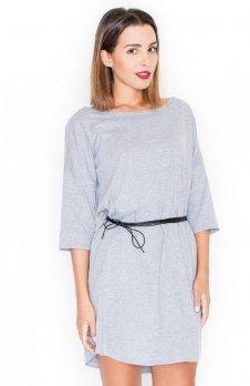 Katrus K335 sukienka szara