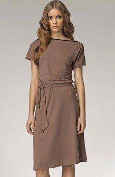Nife S13 sukienka mocca