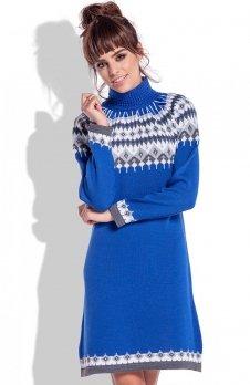 Fobya F346 sukienka chabrowa