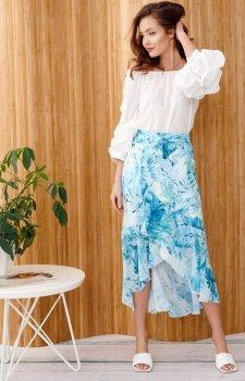 Zwiewna spódnica z falbanami 0029/R44