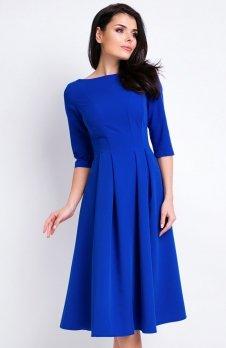 Awama A159 sukienka niebieska