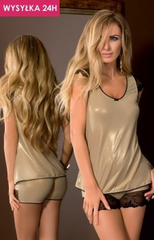 *Sawren Goldie nightset top