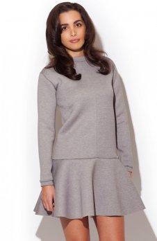 Katrus K247 sukienka szara