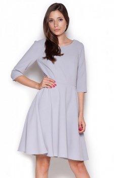 Figl M327 sukienka szara