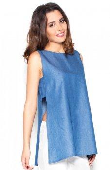 Katrus K376 bluzka niebieska