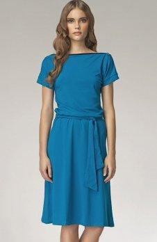 Nife S13 sukienka niebieska