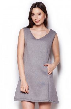 Figl M349 sukienka szara