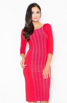 Figl M411 sukienka czerwona