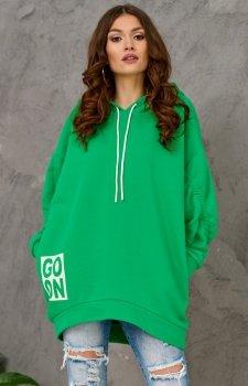 Oversizowa bluza damska 0006 zielona