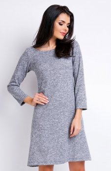 Awama A162 sukienka szara