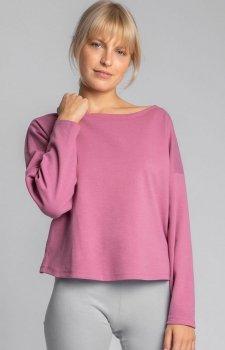 Bawełniana bluza damska wrzosowa LA037