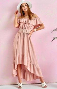 Asymetryczna sukienka hiszpanka 0334