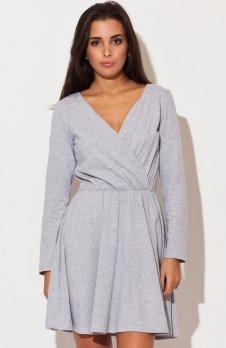 Katrus K116 sukienka szara