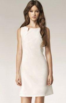 Nife S37 sukienka ecru