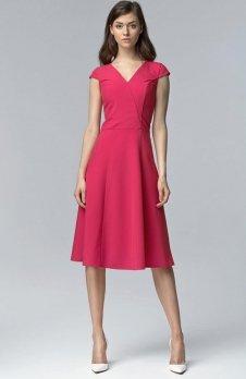 Nife S60 sukienka fuksja